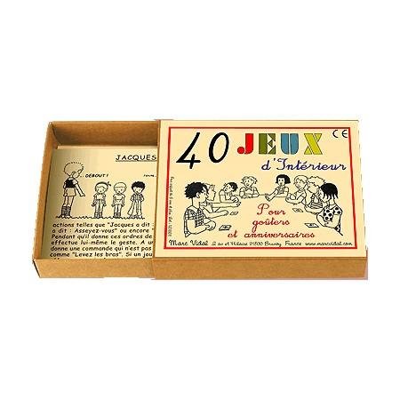 40 JEUX D'INTÉRIEUR
