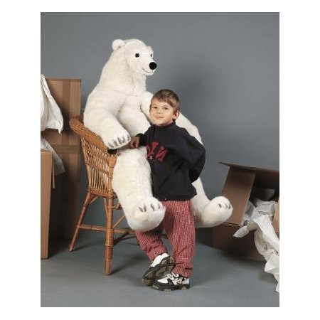 PELUCHE OURS POLAIRE 130 CM