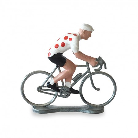 CYCLISTE MAILLOT POIS