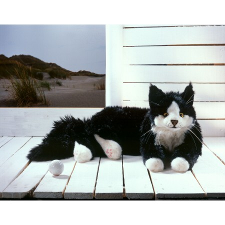 PELUCHE CHAT MAINE COON N/B...