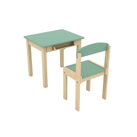 TABLE ET CHAISE VERTE