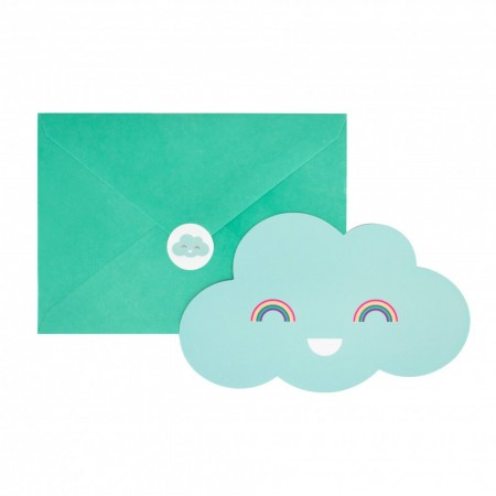 8 INVITATIONS - NUAGES