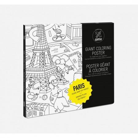 POSTER A COLORIER - PARIS -...